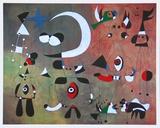 People in the Night, 1949 Kunst av Joan Miró