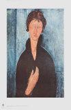 Girl with Blue Eyes Samletrykk av Amedeo Modigliani