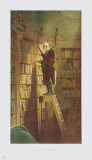 The Bookworm Collectable Print by Carl Spitzweg