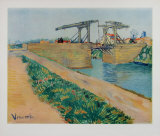 The Drawbridge at Arles Samletrykk av Vincent van Gogh