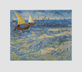 Seascape at Saintes-Maries, c.1888 Samletrykk av Vincent van Gogh