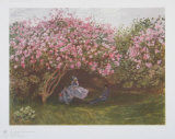 Resting Under the Lilac Samletrykk av Claude Monet