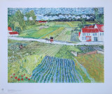 Landscape at Auvers after the Rain, c.1890 Lámina coleccionable por Vincent van Gogh