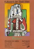 Woman Seated on a Green Chair Poster av Pablo Picasso