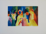 The Yellow Coat Collectable Print by Auguste Macke