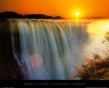 Cascate Victoria - Zimbabwe Stampe di Roger De La Harpe