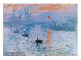 Impression Soleil Levant Posters par Claude Monet