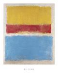 Sans titre, jaune, rouge et bleu, vers 1953 Posters par Mark Rothko