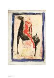 Roter Reiter Kunstdruck von Marino Marini