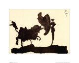 Stiere und Stierkämpfer Poster von Pablo Picasso