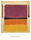 Sans titre Violet, noir, orange, jaune sur blanc et rouge, 1949 Reproduction d'art par Mark Rothko