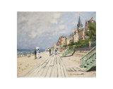 Beach at Trouville, 1870 Plakat af Claude Monet