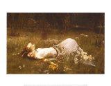 Ofelia, ca. 1889 Plakat av John William Waterhouse