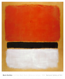無題 (赤、黒、黄に白) 1955年 高画質プリント : マーク・ロスコ