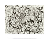 Nr. 14 (Grau) Kunst von Jackson Pollock