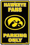 Universidade de Iowa Placa de lata