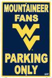 University  of West Virginia Carteles metálicos