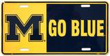 Die Universität von Michigan Blechschild