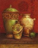 Tuscan Urns I Affiches par Pamela Gladding