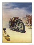 Timing a Motor Cycle Giclée-Druck von  Shuffrey