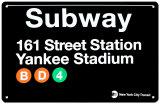 Metro 161 Street Station - Yankee-stadion Metalen bord