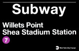U-Bahn-Station Willets Point – Shea Stadium Station Wandschilder
