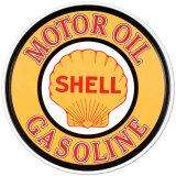 Shell essence et huile Plaque en métal
