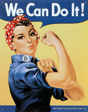 Rosie the Riveter, We can do it! Metalen bord