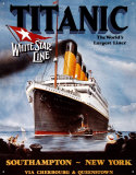 Titanic Filmposter Metalen bord