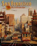 San Francisco Blechschild von Kerne Erickson