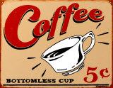 Kaffee Blechschild von B. J. Schonberg
