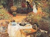 Das Mittagsmahl Kunstdruck von Claude Monet