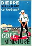 Dieppe Mini Golf Sammlerdrucke von Oliver Gambier