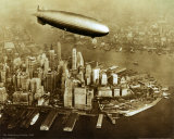 The Hindenburg Airship, 1936 Affiches