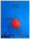 Roland Garros 1980 - Adami Affischer av Valerio Adami