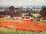 Valmuemark Kunst af Claude Monet