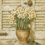 Potted Flowers I Print by Eric Barjot