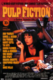 Pulp Fiction Cover with Uma Thurman Movie Poster Poster