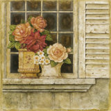 Floral Arrangement in Windowsill II Print by Herve Libaud