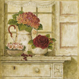 Floral Arrangement with Grapes II Poster by Herve Libaud