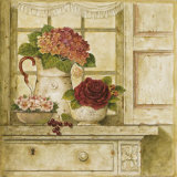 Floral Arrangement with Grapes II Print by Herve Libaud