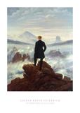 Il viaggiatore sopra al mare di nebbia, 1818 Poster di Caspar David Friedrich