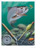 Fishing Montage Affiche