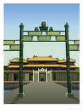 A Front View of the Imperial Palace in Hue, Viet Nam Affiches