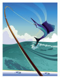 Marlin Hook on a Line, Grouped Elements Affiches