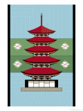 Japanese Temple Posters