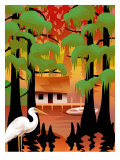 Shack in Bayou Posters