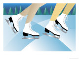 Ice Skaters Affiches