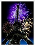 Fireworks Behind Eiffel Tower, Bastille Day Posters
