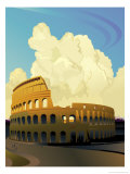 A View of the Coliseum in Rome Affiches